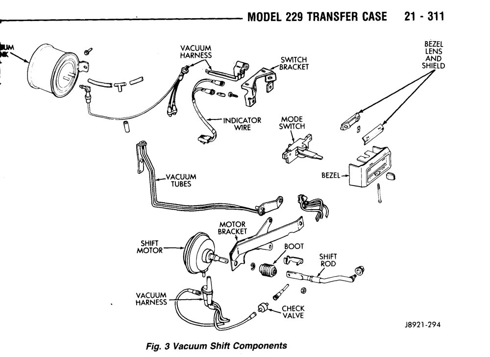 medium resolution of np 229 vacuum shift components