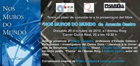 Presentación no Ateneu Roig de Barcelona do último libro de Amauta Castro