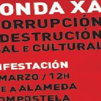 """Manifestación """"contra a corrupción e en defensa dos dereitos sociais e nacionais"""""""