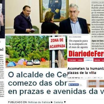 Política de titulares de prensa do goberno popular de Cedeira