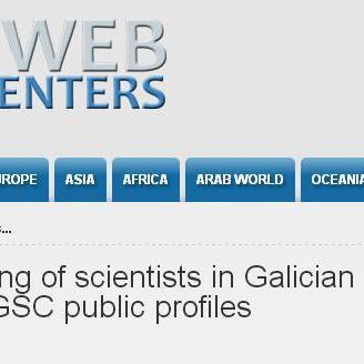 Top 500 de ciencias sociais e humanas en institucións galegas  segundo GSC
