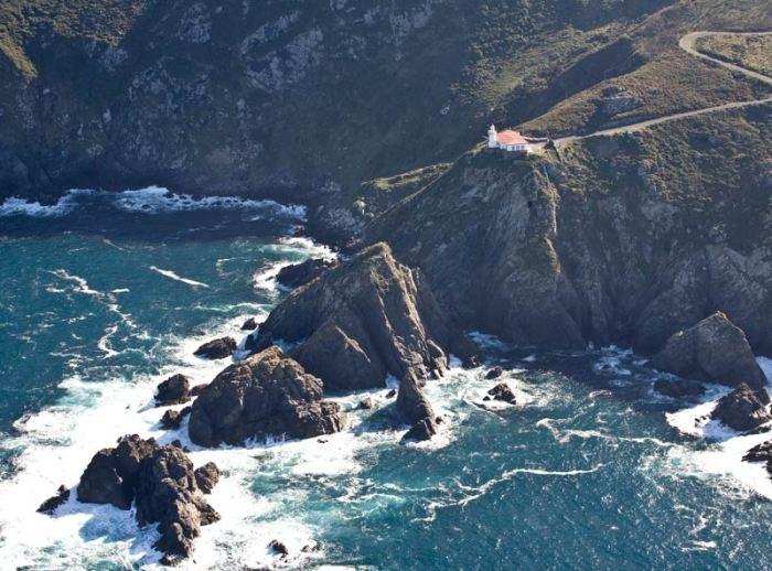 Punta Candieira dende o ar