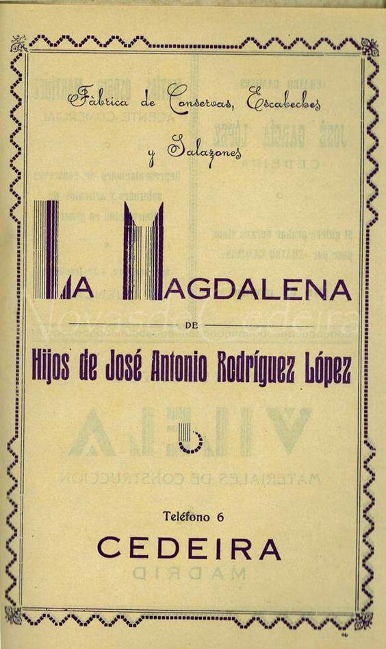 A Magdalena. Conserveira