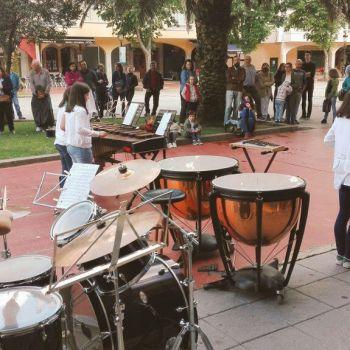 Música na rúa no mes de xullo