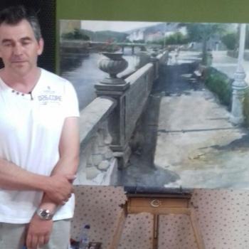Raúl Gil gaña a 2ªedición do Pintura Rápida Vila de Cedeira