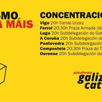 Concentracións de apoio ao referendo catalá na Galiza