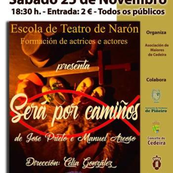 A escola de teatro de Narón actuará o sábado 25 no auditorio de Cedeira
