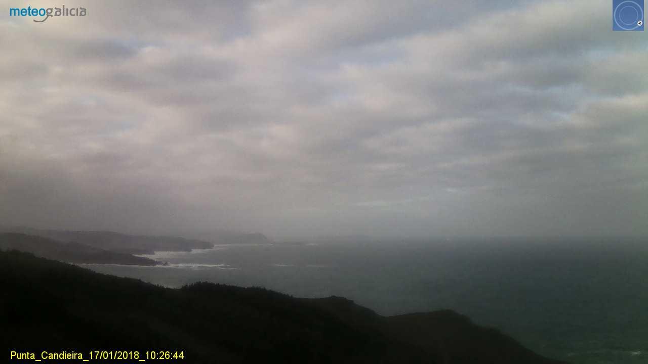 Ondas de até 8 metros no litoral da Coruña e Lugo