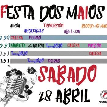 Festa dos Maios, sábado 28, de brazo dado de Discalzos polos Festival