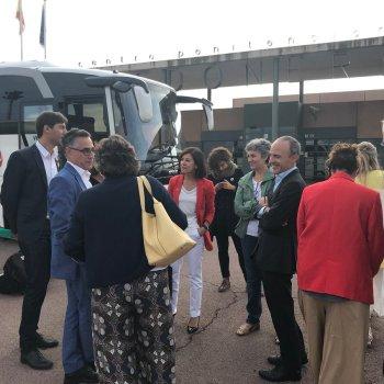 Ana Miranda e Lidia Senra participan na delegación da Eurocámara que visita os presos soberanistas cataláns encarcerados