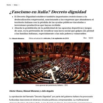 Decreto dignidade, fascismo e fakepolitik