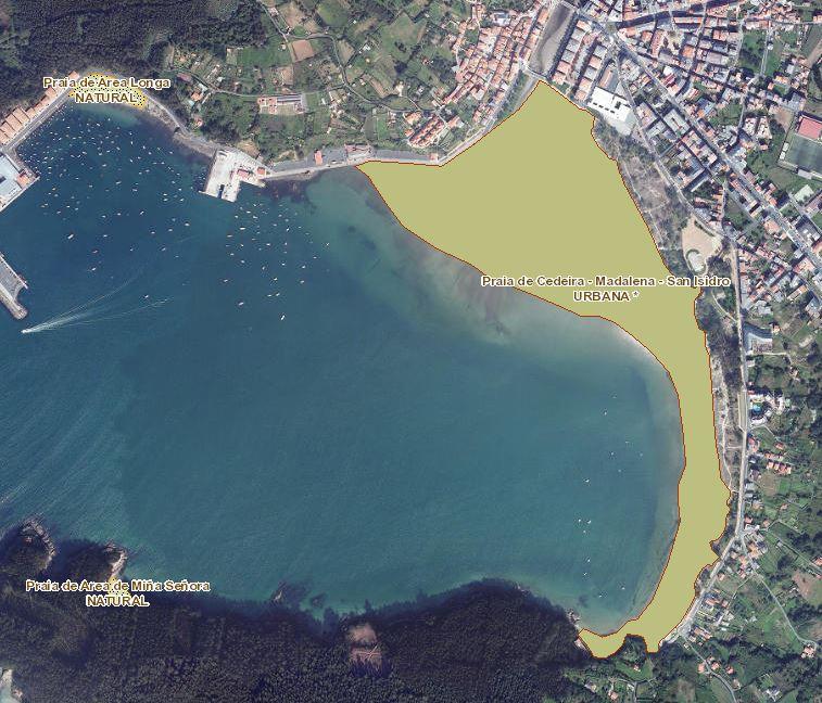 O Concello de Cedeira poderá presentar alegacions para evitar que a praia da Madalena sexa totalmente urbana