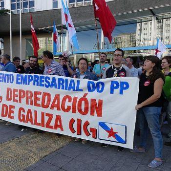 Mobilizacións comarcais contra da Lei de Fomento Empresarial (03-10-2017).Foto: CIG