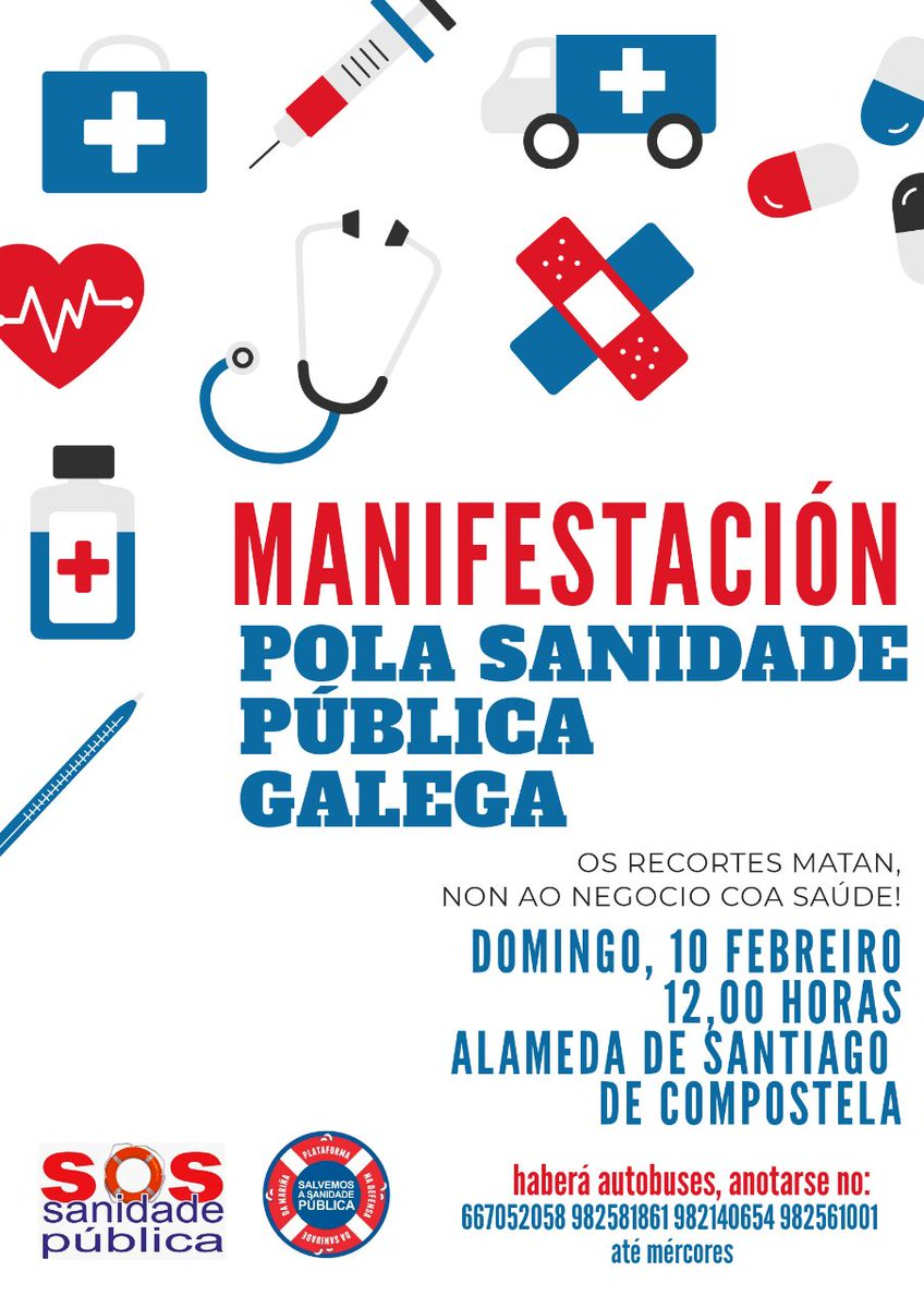 Este domingo ás 12 en Compostela #SosSanidadePública