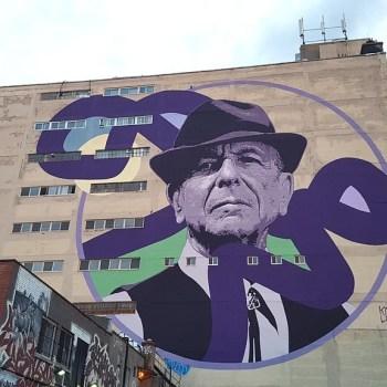 Mural de Leonard Cohen do artista Kevin Ledo - Montreal (2017)