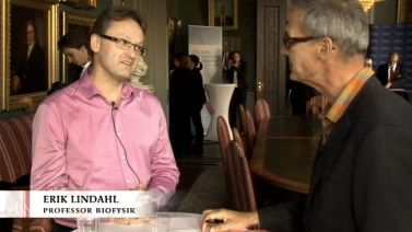 Erik at the Nobel press conference
