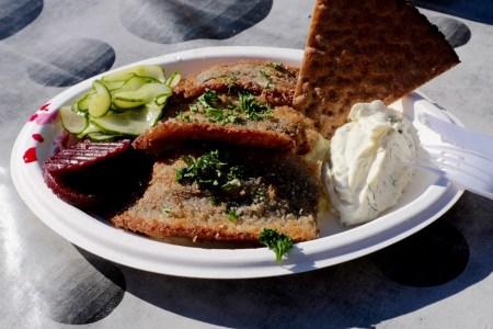 Fried herring at Nystekt Strömming