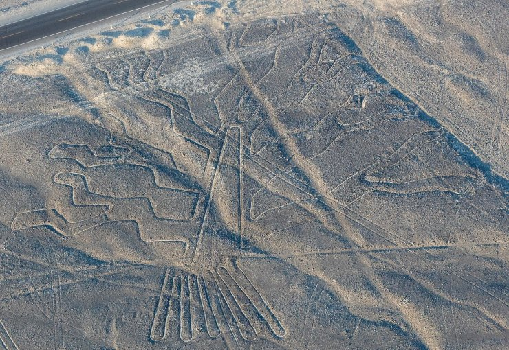 Aerial view of a Nazca drawing