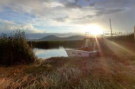 67 lake titicaca sunset