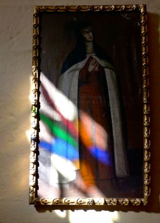41 santa catalina monastery stained glass on painting