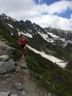 Ollie Stoten training Chamonix