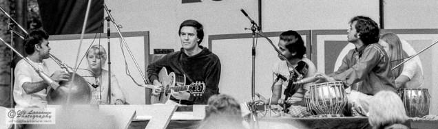 """Shakti: T. H. """"Vikku"""" Vinayakram (ghatam), John McLaughlin (guitar), L. Shankar (violin) and Zakir Hussain (tabla) - July 17, 1976"""