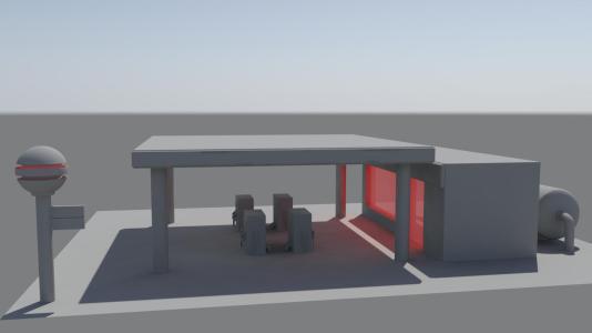 petrrol station first render