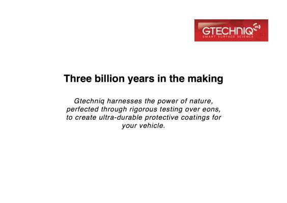 Automotive care slogan - Gtechniq