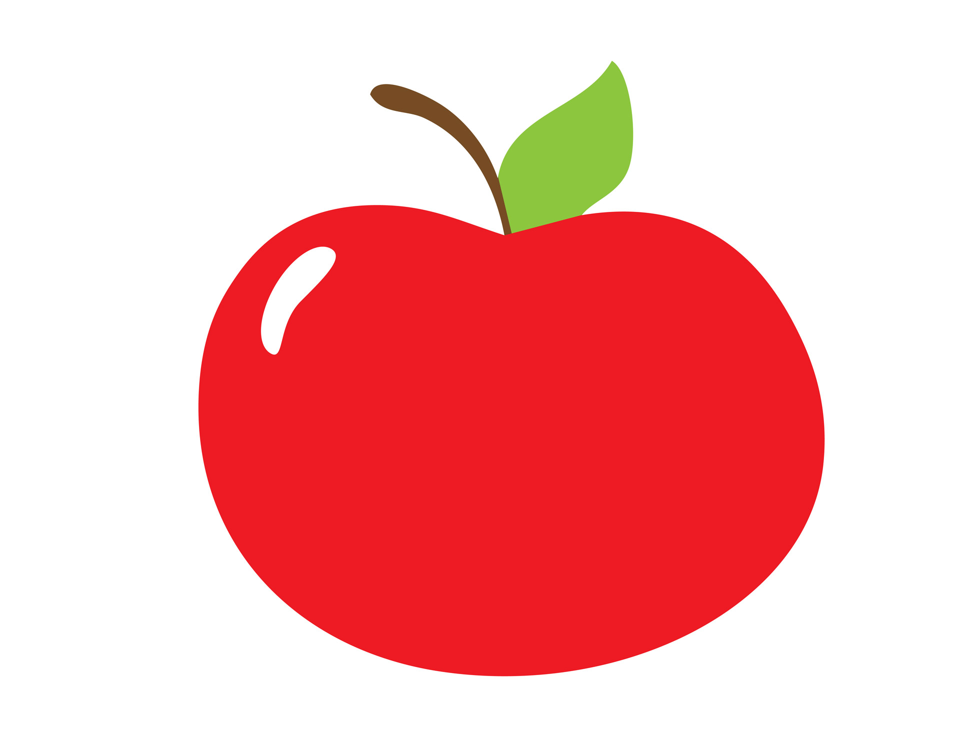hight resolution of red apple clipart