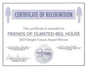 Bright Futures Award Certificate