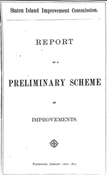 Olmsted's Report to Staten Island Improvement Commission