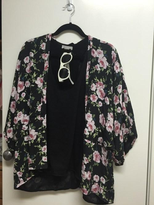 The first kimono I bought from Poshmark