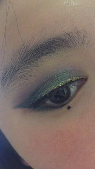 Close up of my eyemakeup
