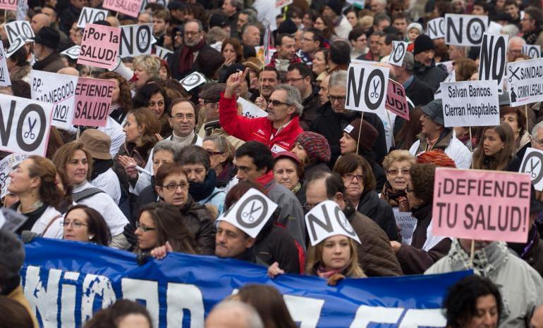 διαδηλωση στη Μαδριτη