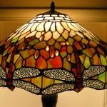 Szitakötős Tiffany lámpa
