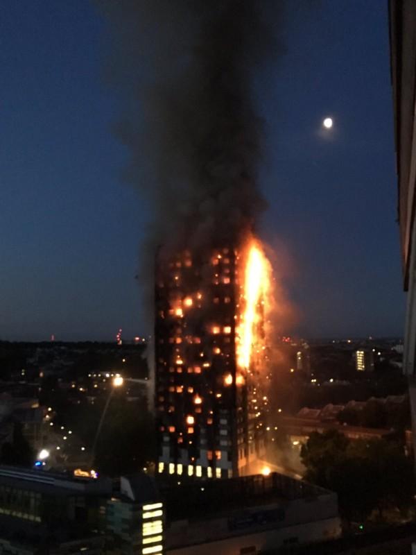 Massive Fire Engulfs Grenfell Tower In London