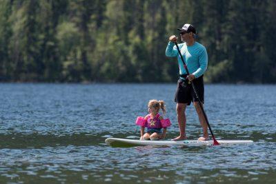 Tourism photo shoot at Paul Lake near Kamloops