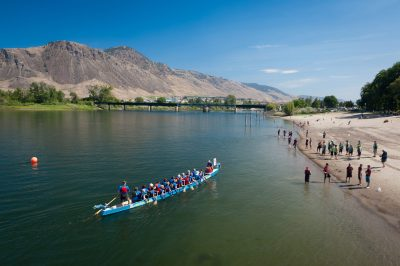 The annual Dragon Boat Races at Riverside Park in Kamloops, BC