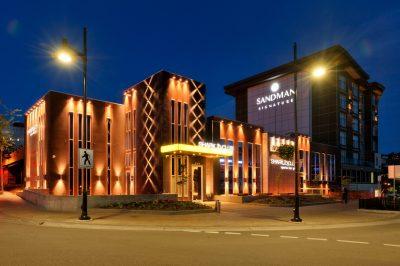 Sandman Centre Hotel at Riverside Park in downtown.