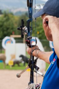 Archery competition at BC Summer Games