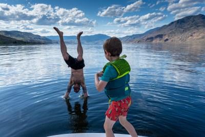 Lifestyle recreation on Kamloops Lake
