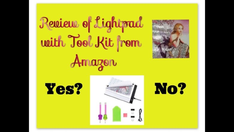 Diamond Painting Product Review – Litepad with Tool Kit from Keria on Amazon