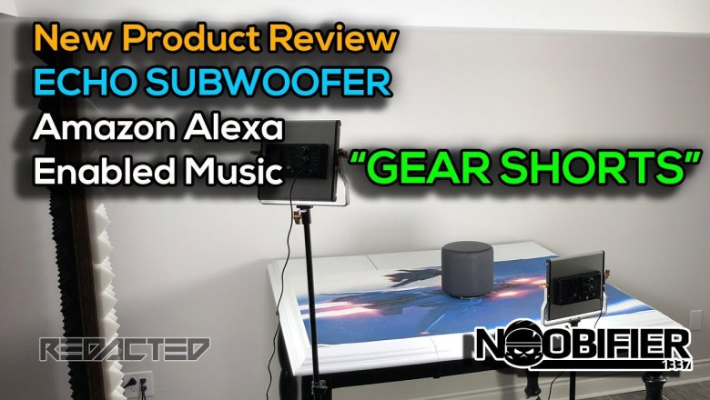 ECHO Subwoofer – New Product Review – Amazon Enabled Music   #gearshorts