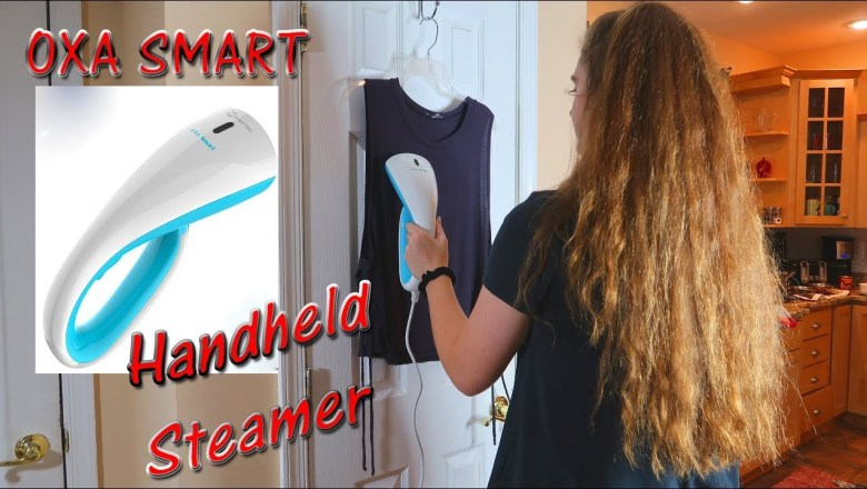 🍀 Oxa Smart HANDHELD STEAMER 🦋TRAVEL GARMENT (CLOTHES) STEAMER PRODUCT REVIEW 👈
