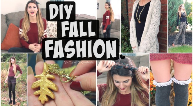 DIY FALL Fashion Accessories + Autumn Outfits Lookbook // Bow Headband, Lace Socks, & Clay Necklace
