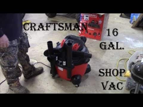 First Look: Craftsman branded ShopVac ~ Product Review & Demonstration