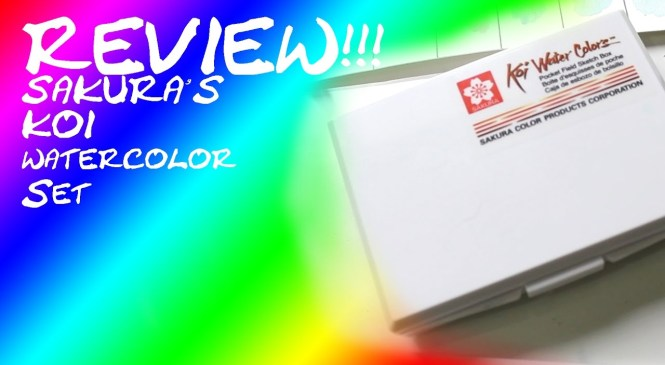~ART SUPPLY PRODUCT REVIEW~ KOI 12 COLOR WATERCOLOR TRAVEL SET