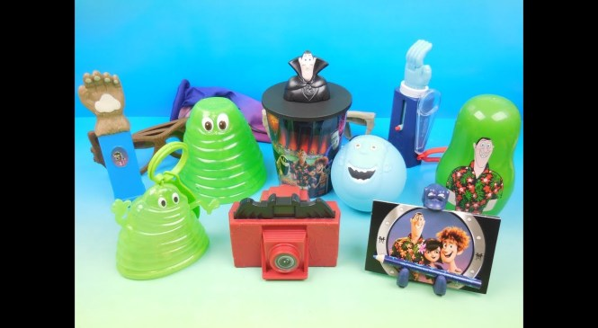 2018 HOTEL TRANSYLVANIA 3 SET OF 12 McDONALDS HAPPY MEAL KIDS TOYS VIDEO REVIEW (RUSSIA)