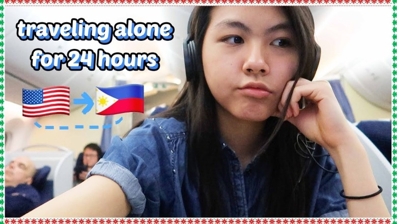✈️traveling home alone for 24 HOURS to 3 COUNTRIES🌴 | DAY 8: VLOGMAS 2018🎄 Katie Tracy