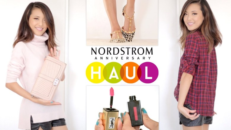 HAUL & TRY-ON: Nordstrom Anniversary Sale (makeup, fashion, accessories, shoes)